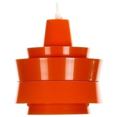 Trava Orange Pendant Light by Carl Thore for Granhaga in 1967