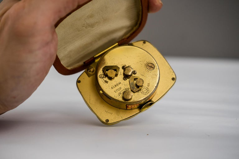 Mid-20th Century Travel Alarm Clock