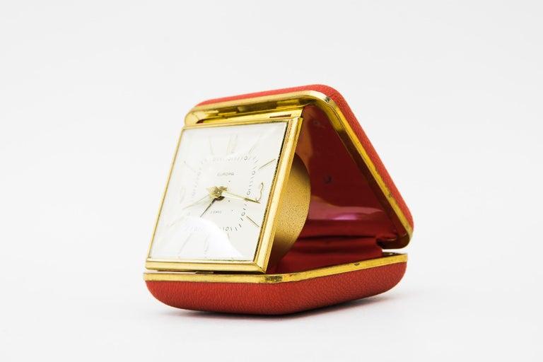 Brass Travel Alarm Clock