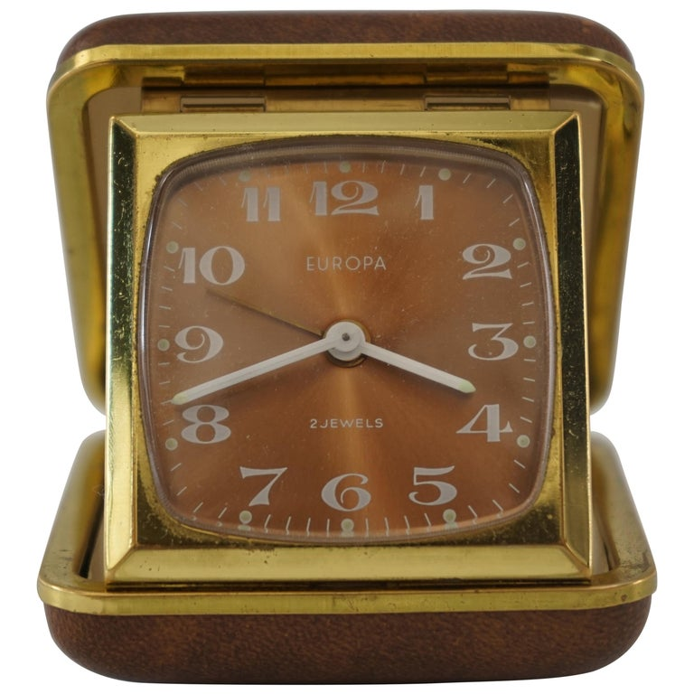 "Travel Alarm Clock ""Europe"", 1950s For Sale"