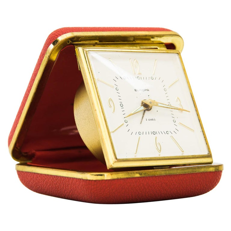 "Travel Alarm Clock ""Europe"", 1950s For Sale"