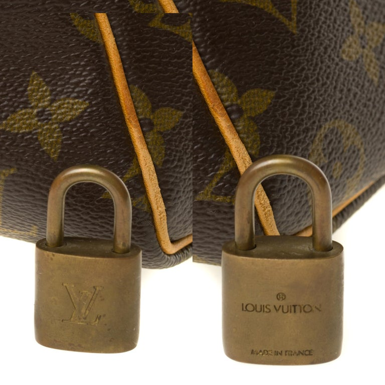 Travel bag Louis Vuitton 45 Monogram customized