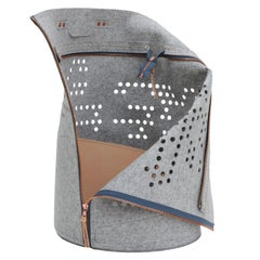 "Travel Pet Bag ""Dots"" in Melange Gray"