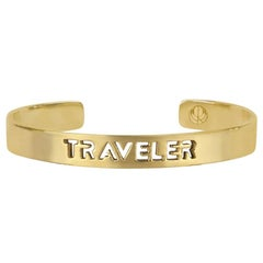 TRAVELER Bangle Bracelet in Yellow Gold Plated Stainless Steel