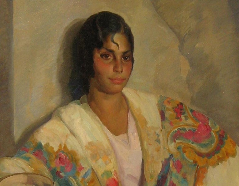 Julio Moisés Fernández de Villasante (Spain, 1888-1968). Signed. Julio Moisés Fernández de Villasante spent his childhood and adolescence in Galicia and Cadiz, city in whose School of Fine Arts he began his studies of painting. There it obtained