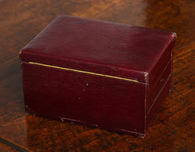 Leather Traveler's Jewelry Box For Sale