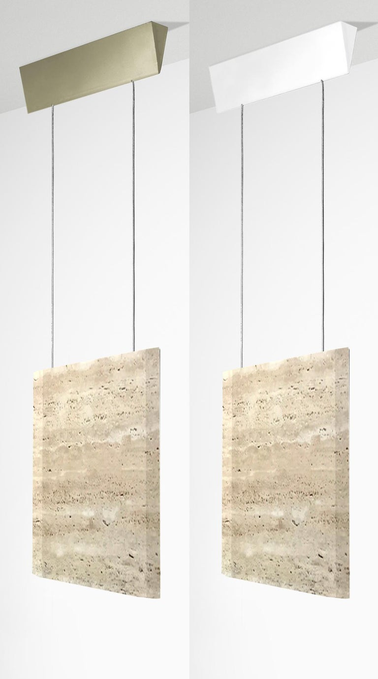 Italian Travertine Ceiling Lamp