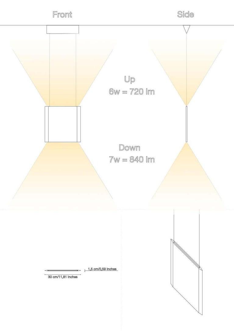 Contemporary Travertine Ceiling Lamp
