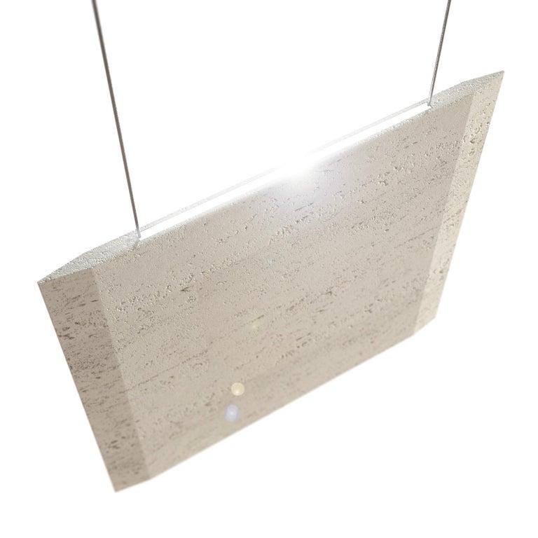 Engraved Travertine Ceiling Lamp