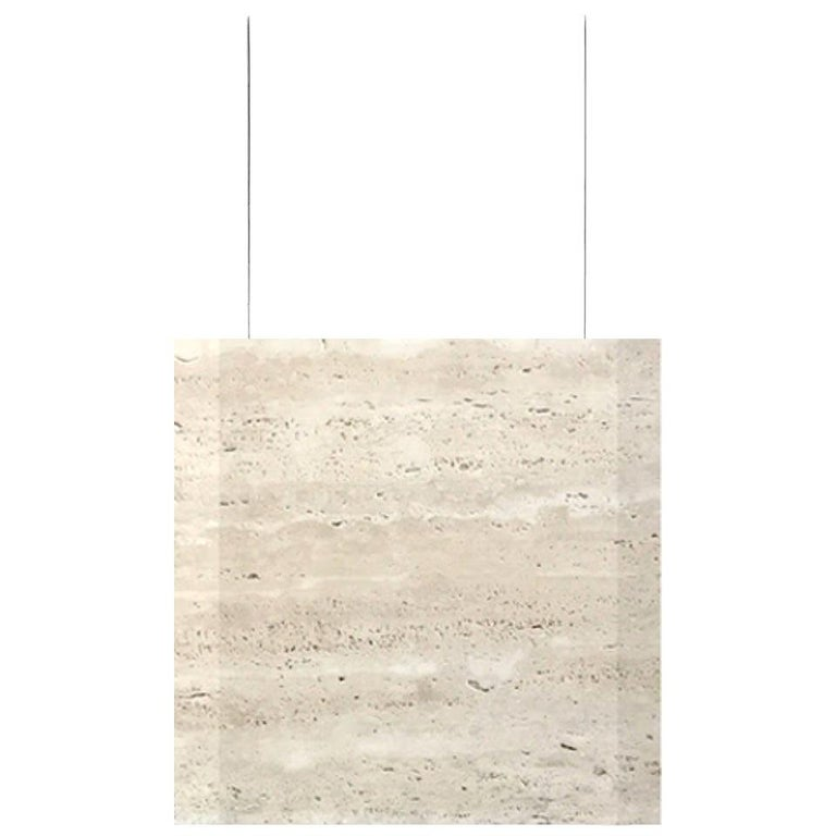 """Travertine Ceiling Lamp """"Werner Sr."""" in Stock For Sale"""