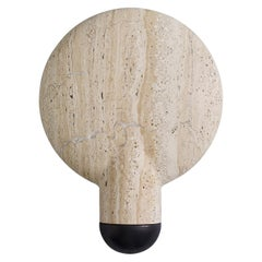 Travertine Classico Surface Wall Sconce Light by Henry Wilson