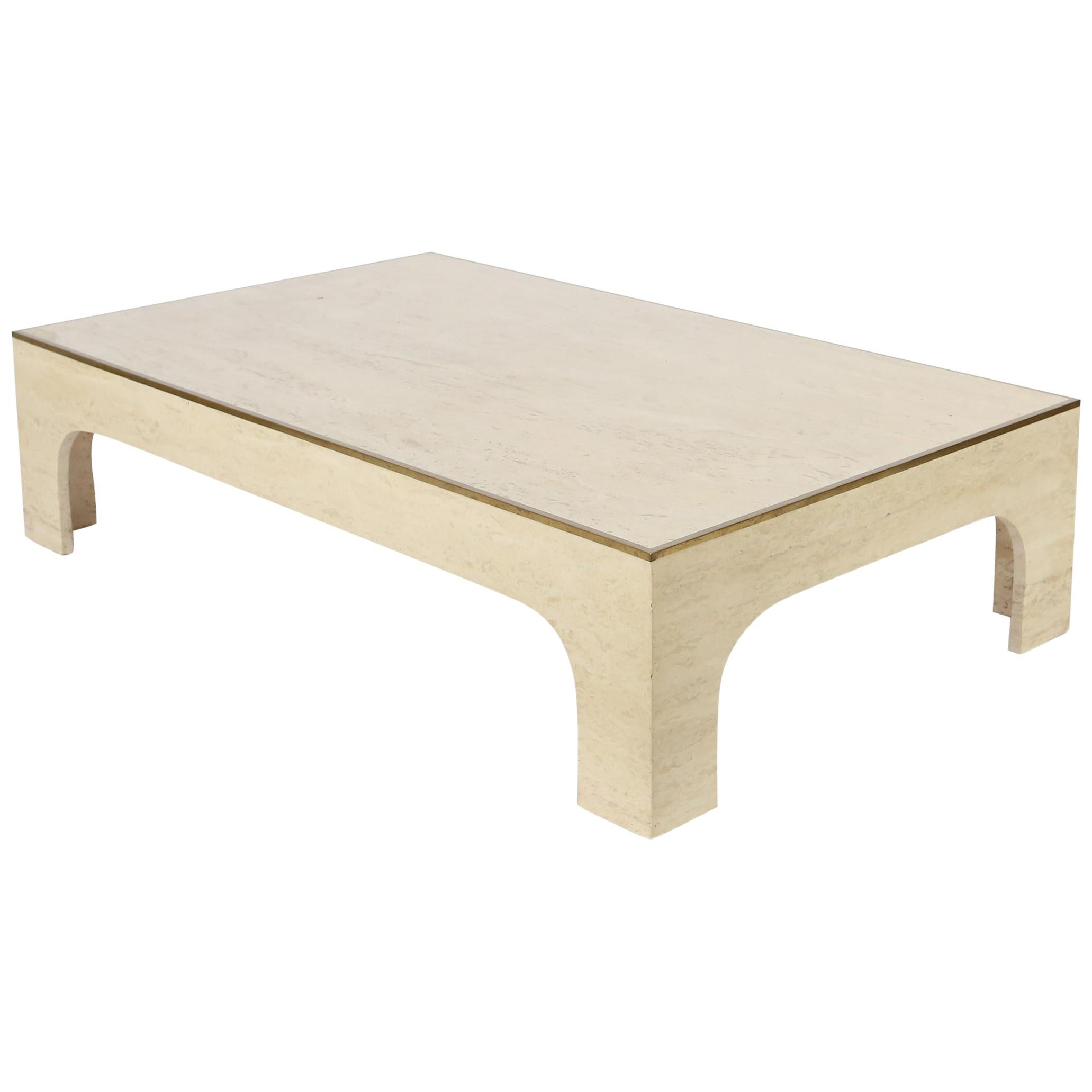 Travertine Coffee or Cocktail table by Willy Rizzo, circa 1970