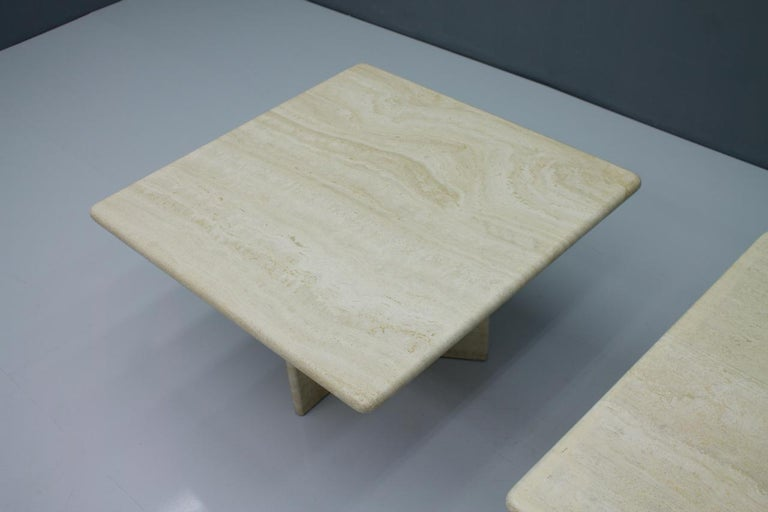 Italian Travertine Coffee or Side Table, Italy, 1970s For Sale