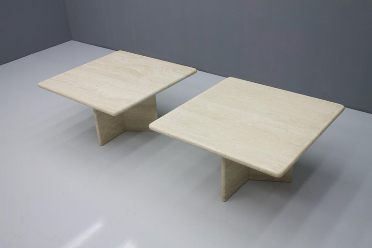 Travertine Coffee or Side Table, Italy, 1970s In Good Condition For Sale In Frankfurt / Dreieich, DE