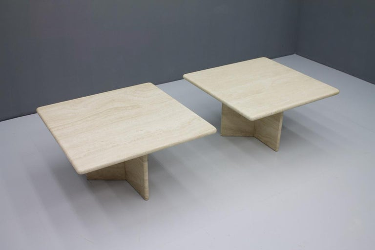 Late 20th Century Travertine Coffee or Side Table, Italy, 1970s For Sale