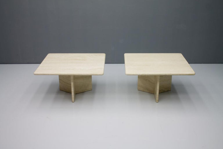 Travertine Coffee or Side Table, Italy, 1970s For Sale 1