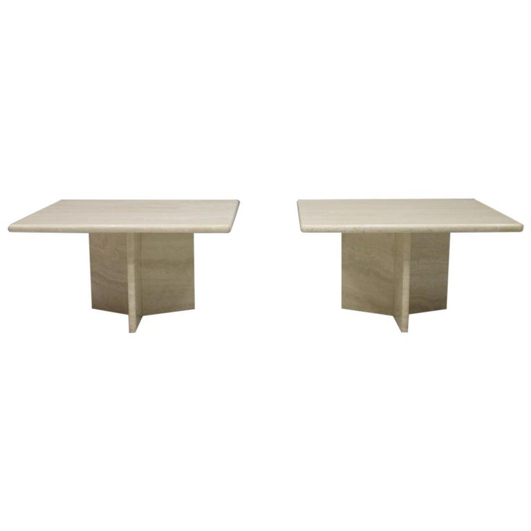 Travertine Coffee or Side Table, Italy, 1970s For Sale