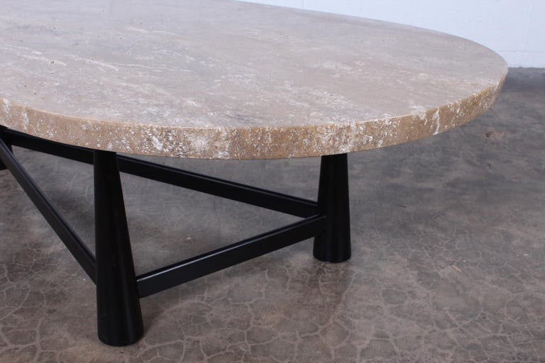Travertine Coffee Table by Edward Wormley for Dunbar For Sale 6