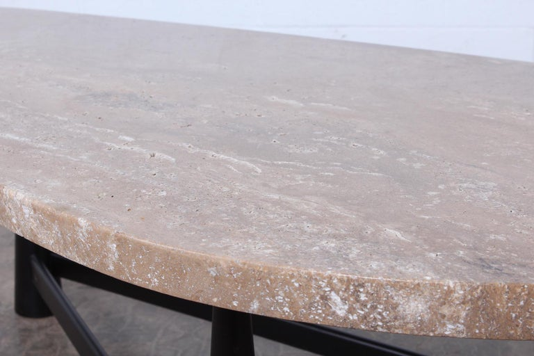 Travertine Coffee Table by Edward Wormley for Dunbar For Sale 7
