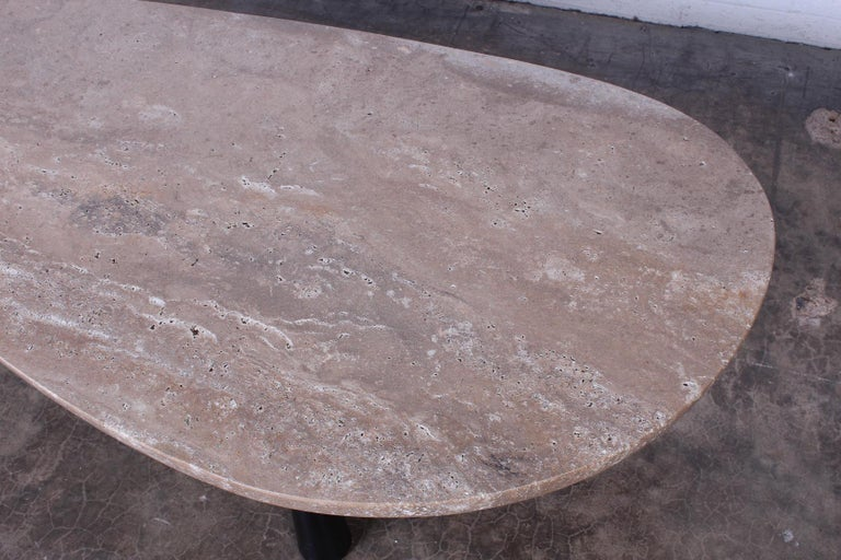 Travertine Coffee Table by Edward Wormley for Dunbar For Sale 3