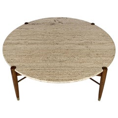Travertine Coffee Table by Folke Ohlsson for DUX Sweden
