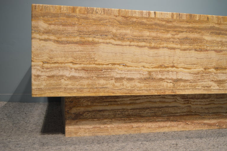 Travertine Coffee Table For Sale 6