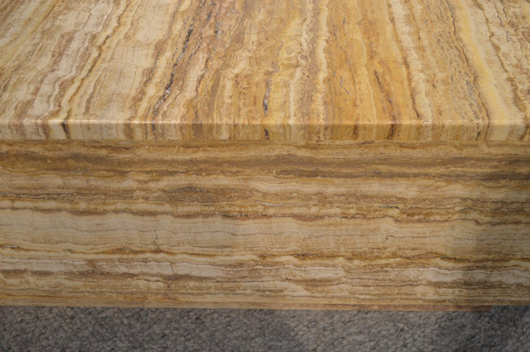 Travertine Coffee Table In Good Condition For Sale In Paris, FR