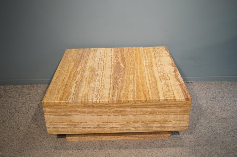 Travertine Coffee Table For Sale 2