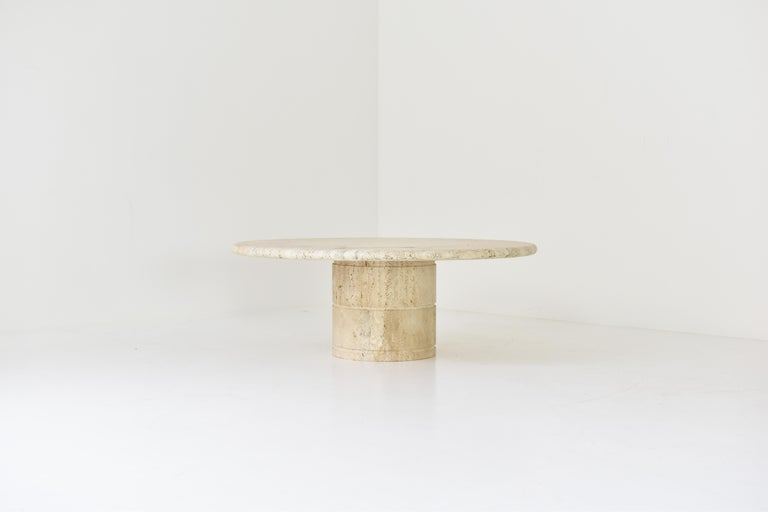 Mid-Century Modern Travertine Coffee Table for Up & Up, Italy, 1970's