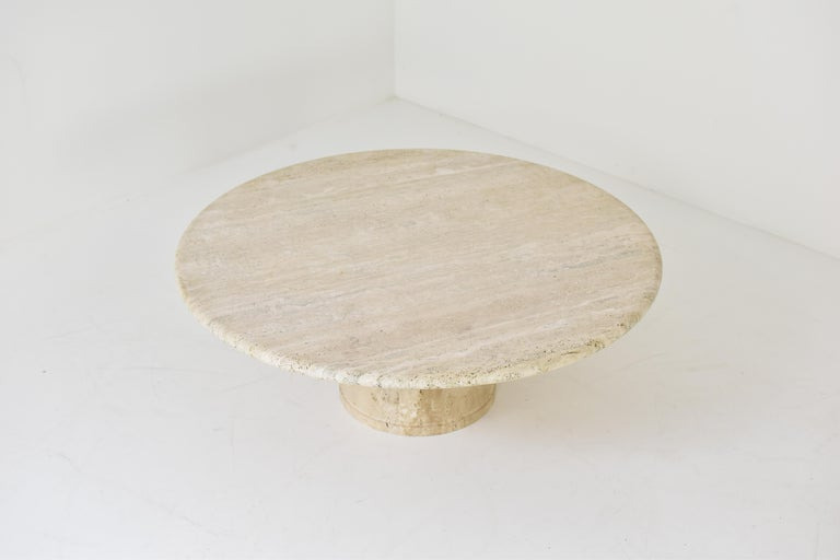 Italian Travertine Coffee Table for Up & Up, Italy, 1970's