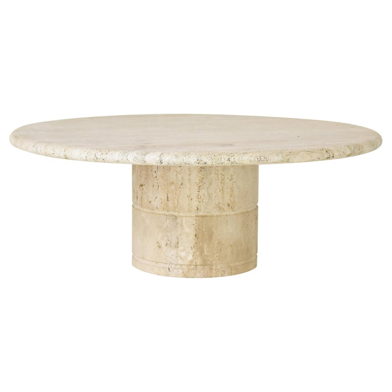 Travertine Coffee Table for Up & Up, Italy, 1970's