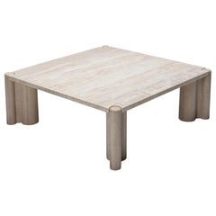 Travertine Coffee Table 'Jumbo' by Gae Aulenti