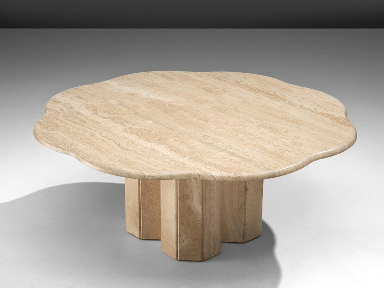 Coffee table, travertine, Europe, 1970s