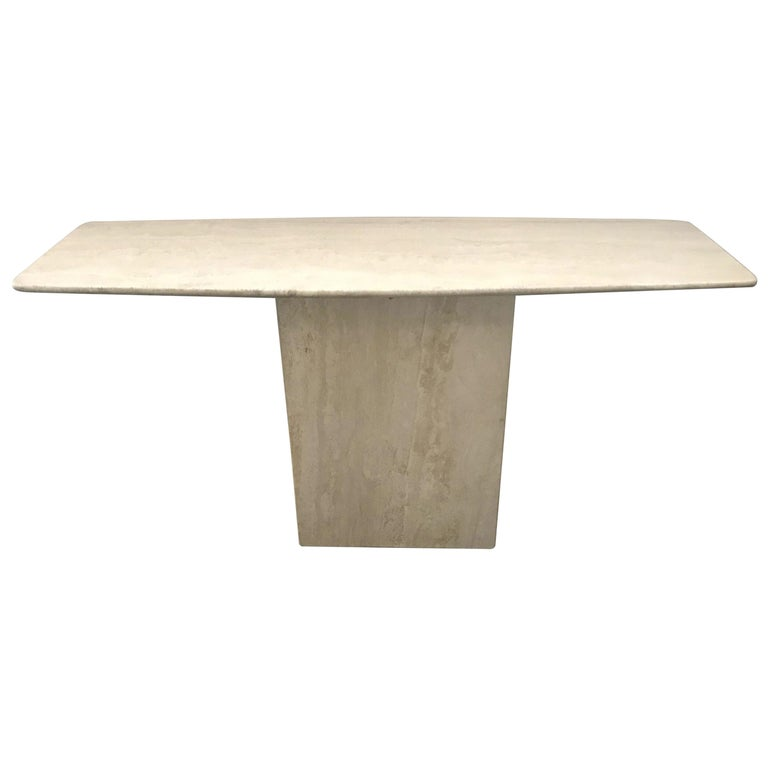 Travertine Console Table FINAL CLEARANCE SALE For Sale