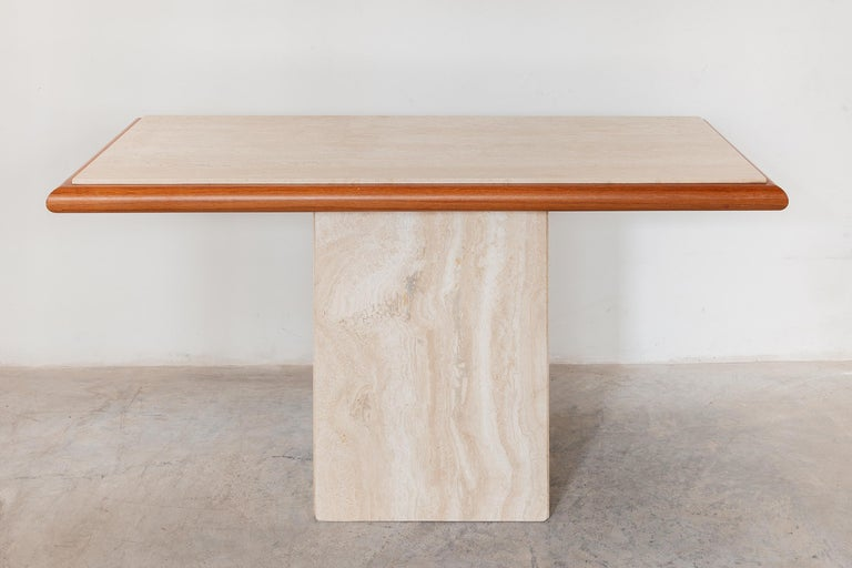 Mid-Century Modern Travertine Console Table,Italy 1970s For Sale