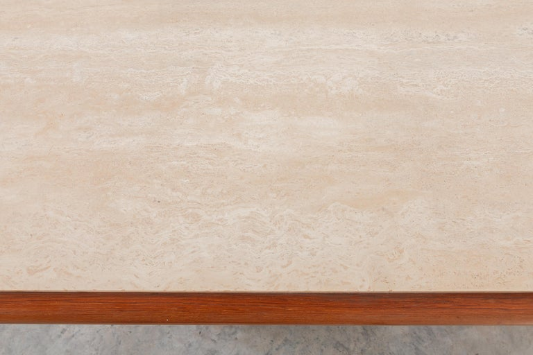 Travertine Console Table,Italy 1970s In Good Condition For Sale In Antwerp, BE