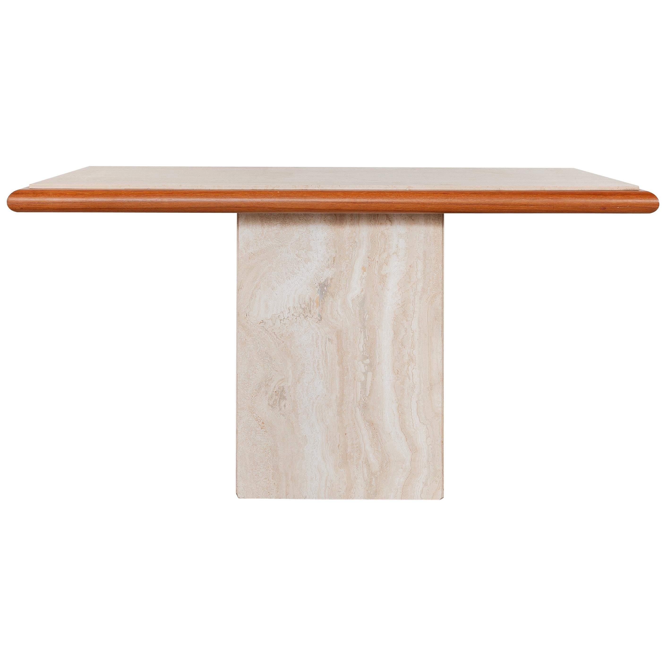 Travertine Console Table,Italy 1970s