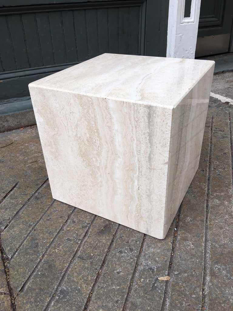 Travertine Cube In Good Condition In Philadelphia, PA