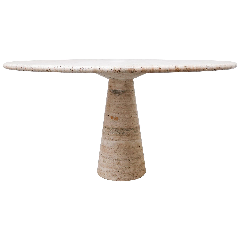 Travertine Dining Table by Angelo Mangiarotti