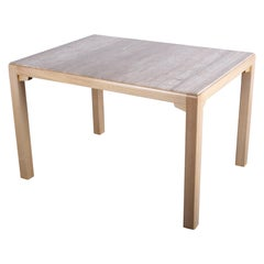 Travertine Dining Table / Desk by Edward Wormley for Dunbar