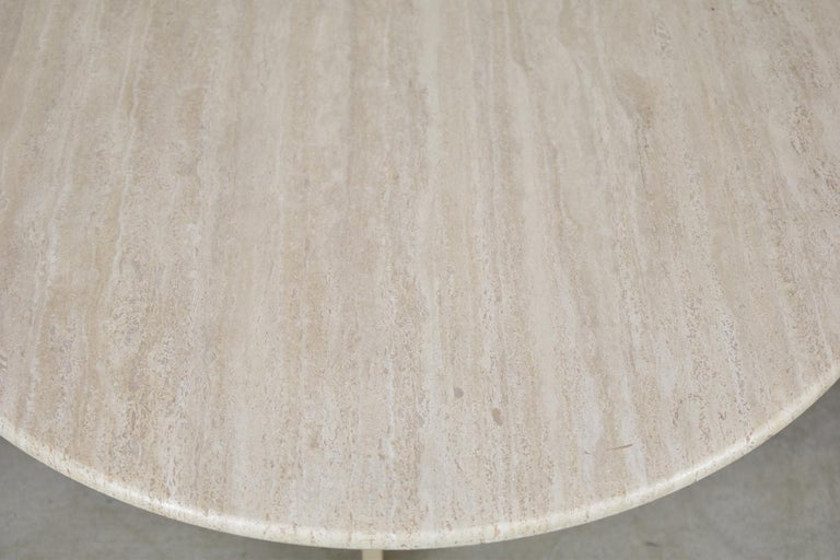 Mid-Century Modern Travertine Dining Table from Italy, 1960s For Sale