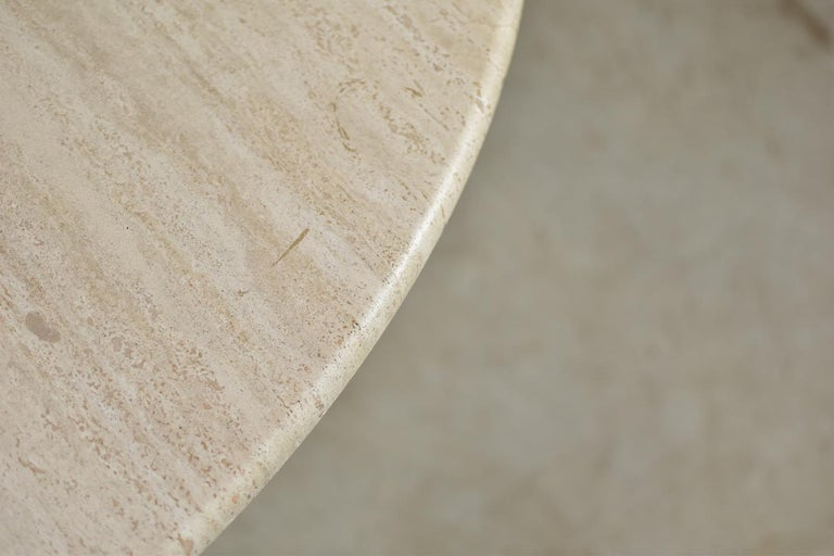 Italian Travertine Dining Table from Italy, 1960s For Sale