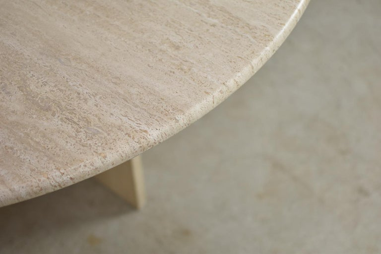 Mid-20th Century Travertine Dining Table from Italy, 1960s For Sale