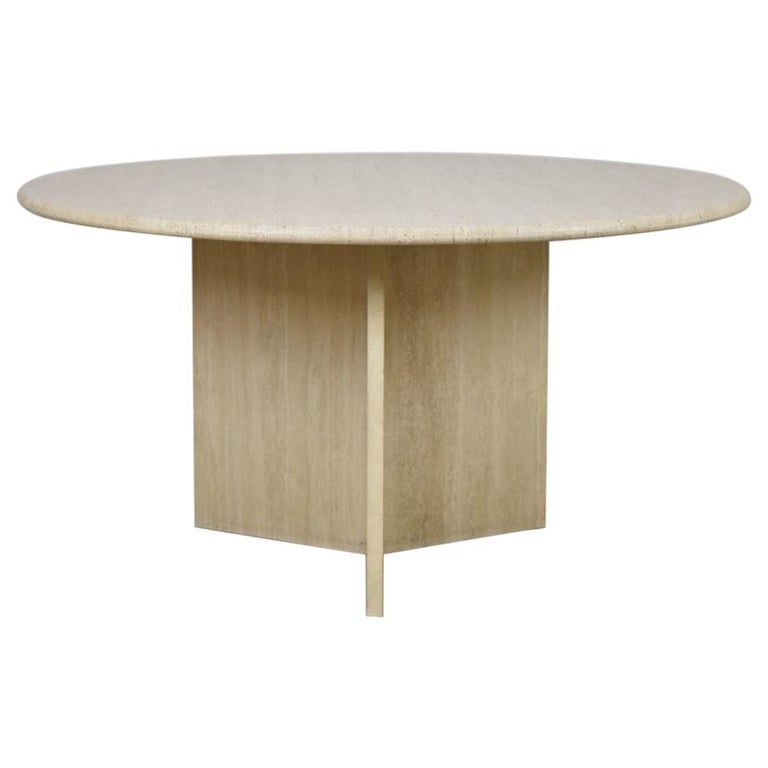 Travertine Dining Table from Italy, 1960s For Sale
