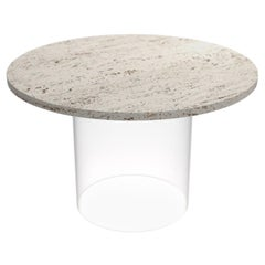 Travertine Marble Coffee Table, x2 15w Wireless Charger