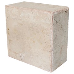 Travertine Marble Rectangular Tall Side Table, Drinks Table or Coffee Table