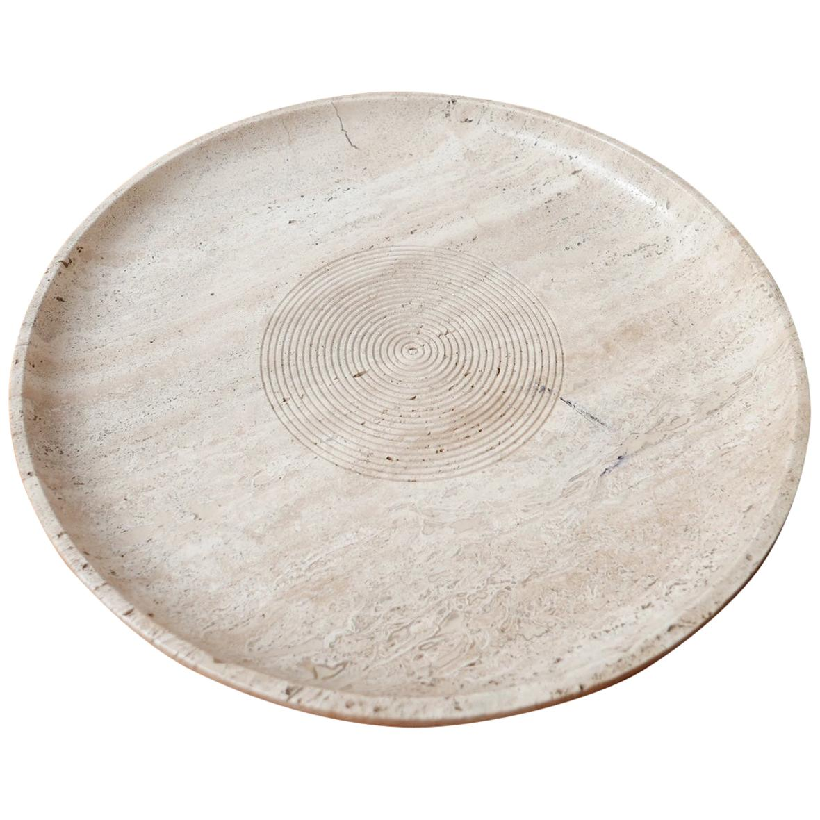 Travertine Midcentury Italian Bowl in Manner of Giusti and Di Rosa for Up & Up