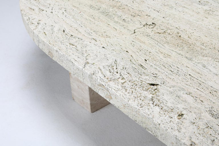 Travertine Oval Coffee Table 1