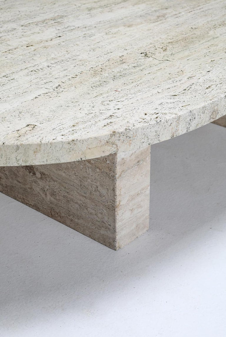 Travertine Oval Coffee Table 2