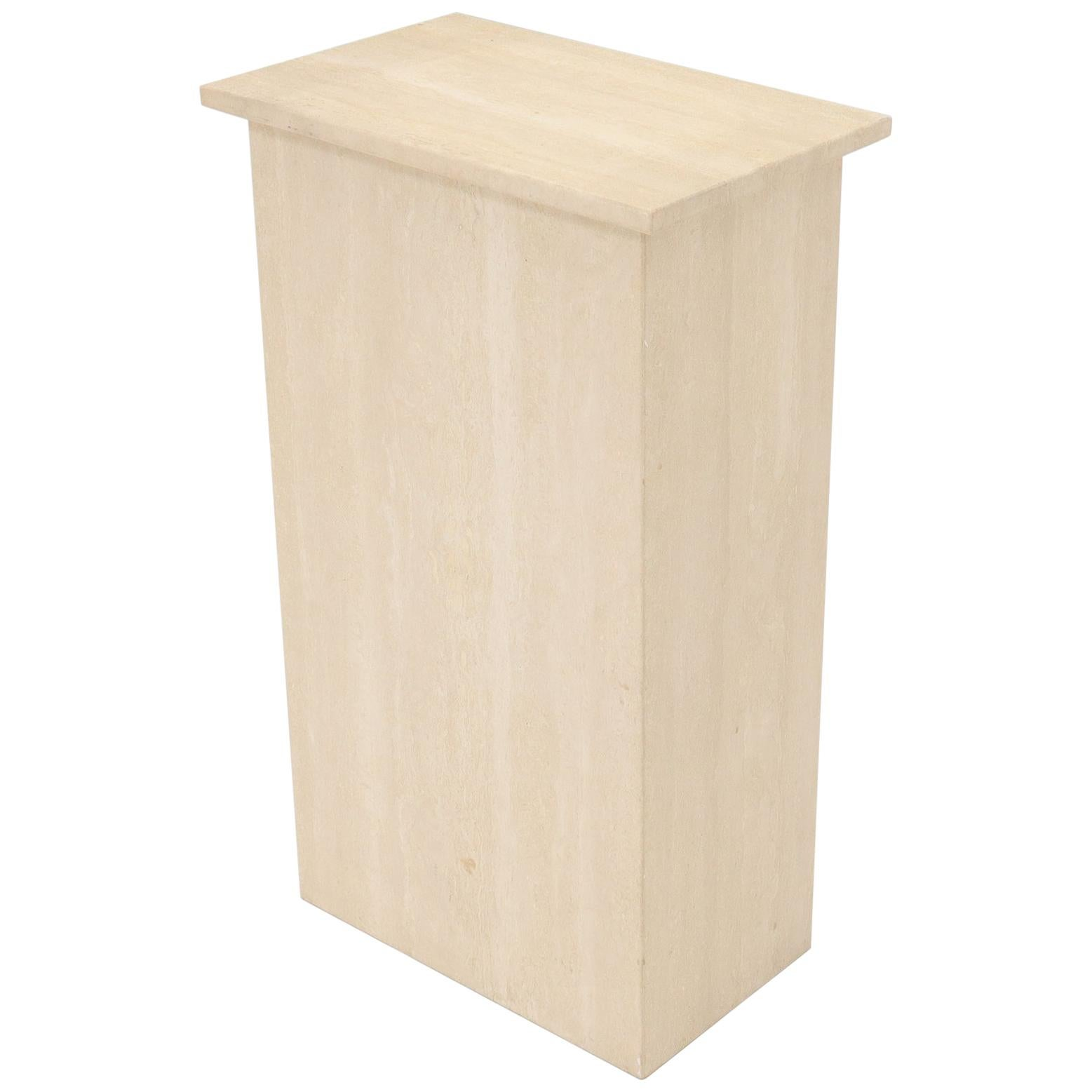 Travertine Rectangle Shape Pedestal Stand